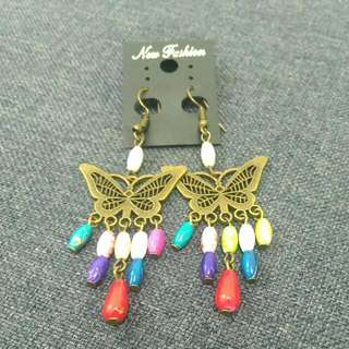 Colourful Butterfly Earring