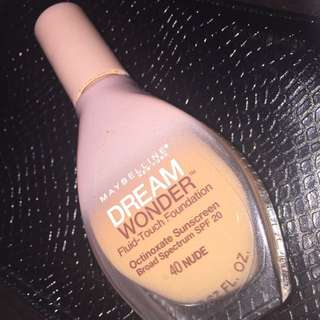 Maybelline Fluid-Touch Foundation - 40 NUDE