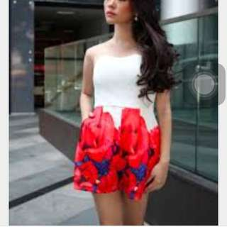 White Rose Romper CNY