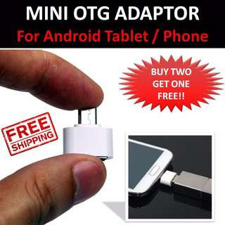 ★ Mini Micro USB Male to USB 2.0 Female OTG (On The Go) Adaptor For Android Tablets / Phone / Samsung ★ White / Black / Red ★ Stock Available ★★FREE Normal Mail Delivery ★