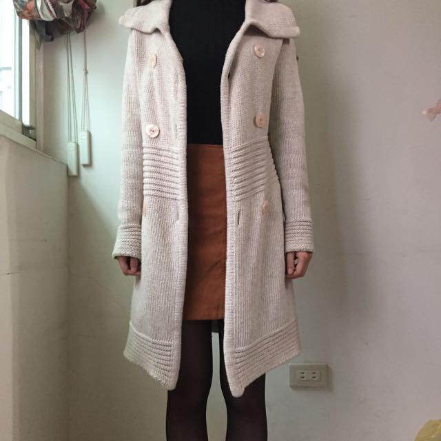 韓版米色針織外套