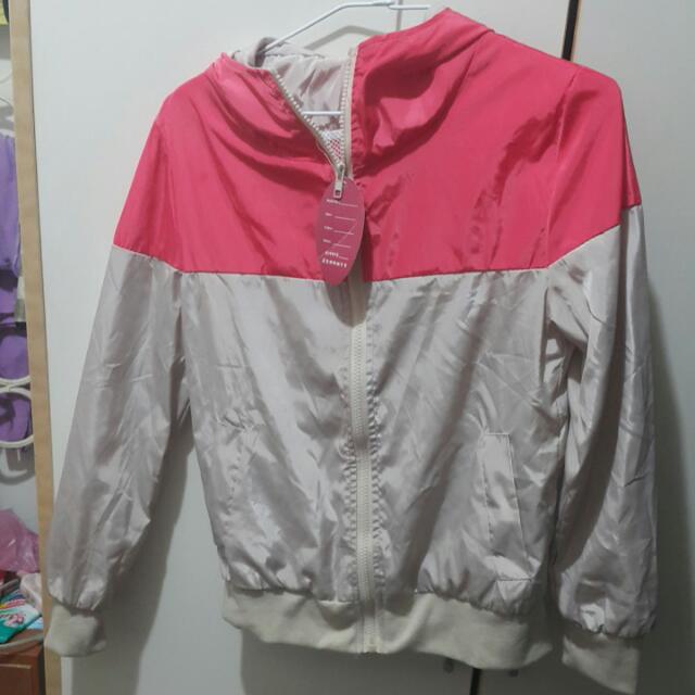全新:粉色運動外套
