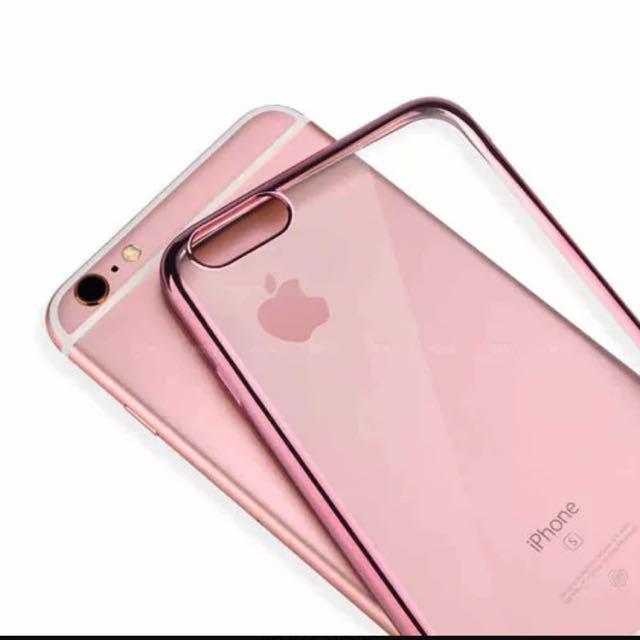 現貨❤️電鍍玫瑰金手機軟殼❤️