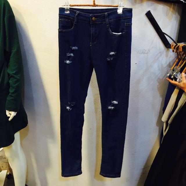✨超激瘦💗刷破褲 牛仔褲 長褲