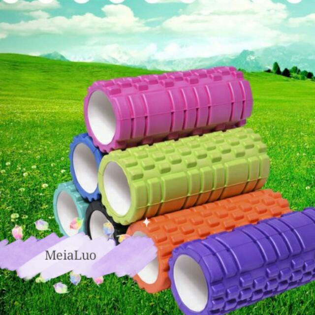 瑜珈空心柱 滾輪 滾筒 按摩滾輪 瑜珈柱 平衡棒 放鬆 運動用品