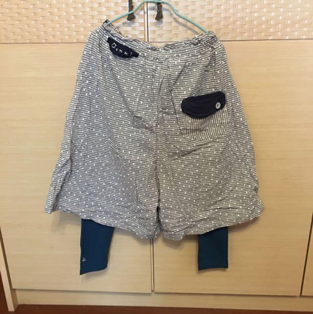 A La Sha 阿財 假兩件式褲裙