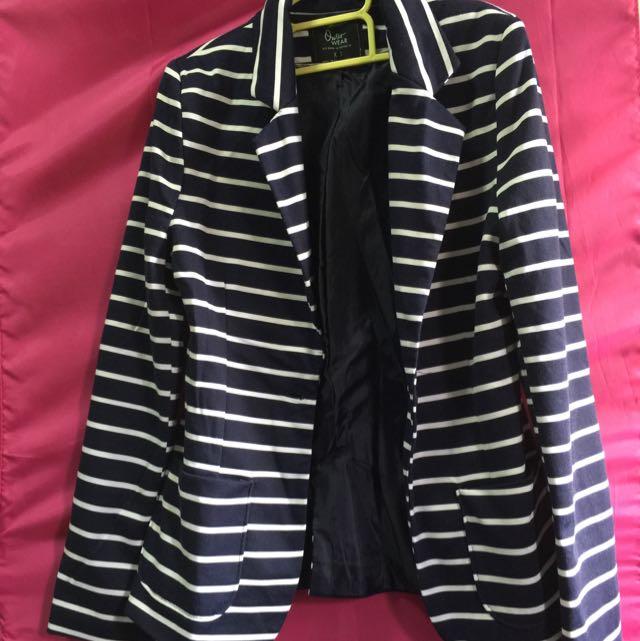 Cotton On Stripes Blazer