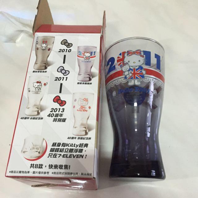 Hello Kitty 馬克杯 玻璃杯 全新