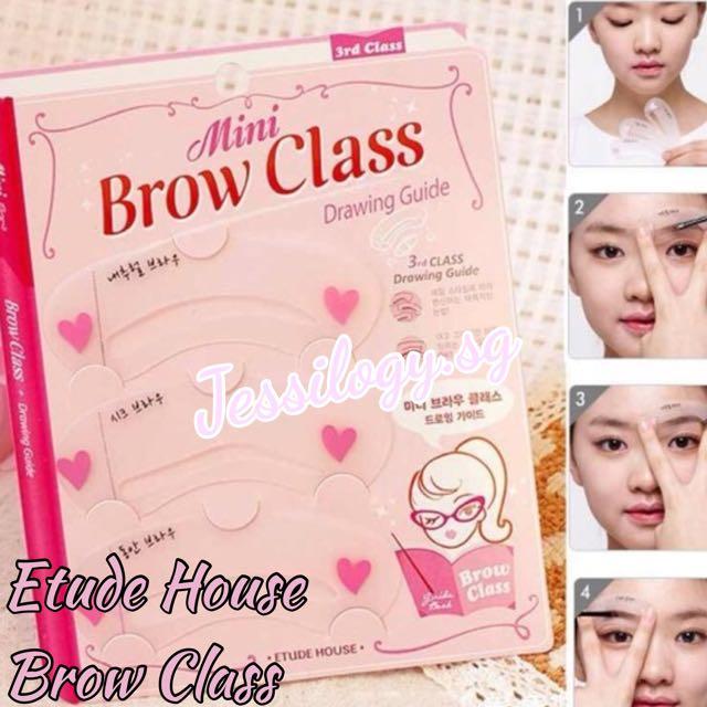 Instock Etude House Mini Brow Class Etude House Eyebrow Stencils