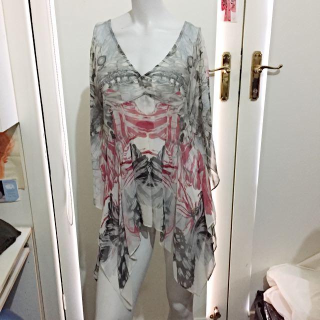 Karen Millen Silk Sheer Top