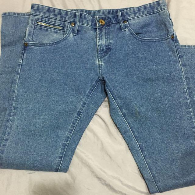LOWRYS FARM直筒牛仔褲