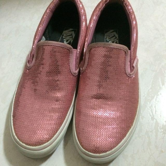 Vans粉紅亮片鞋