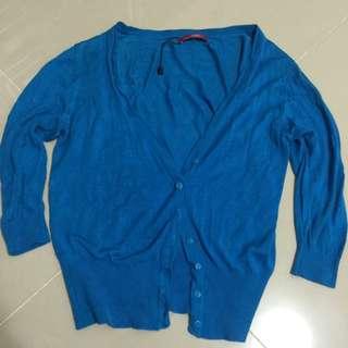 全新⋯Esprit短版寶藍針織小外套