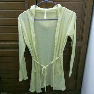 黃色長版外套