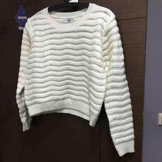 Air Space白針織毛衣