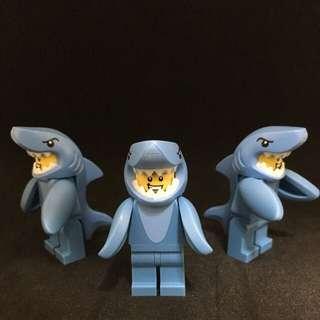 Lego 人偶包 15代 鯊魚人