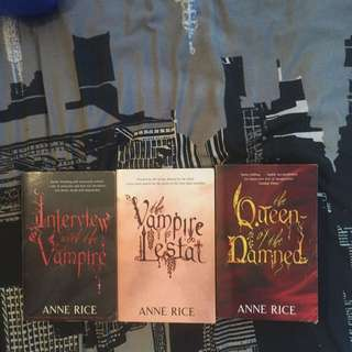 Anne Rice: Vampire Chronicles Trilogy Set