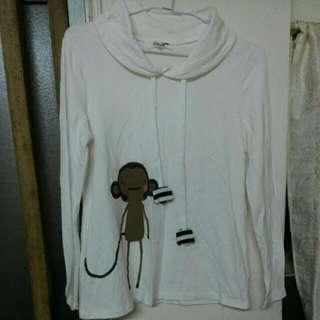 專櫃白色長袖衣(M)