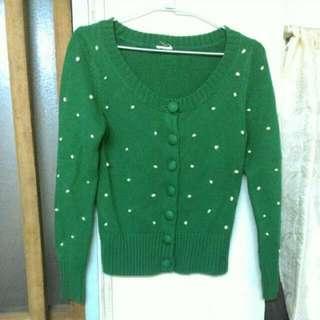綠色針織外套