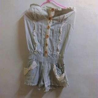 🎁蕾絲裝飾荷葉邊連身褲