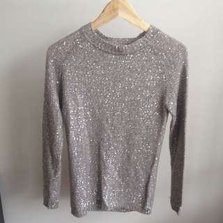Silver Sequined Jumper