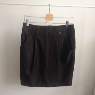 High Waisted Business Skirt