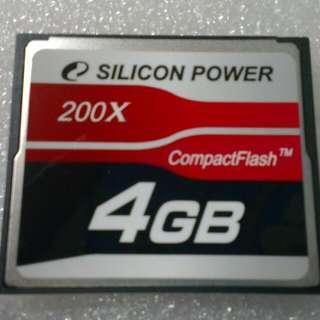 廣穎 Silicon Piwer CF卡 200X - 4G (裸裝)