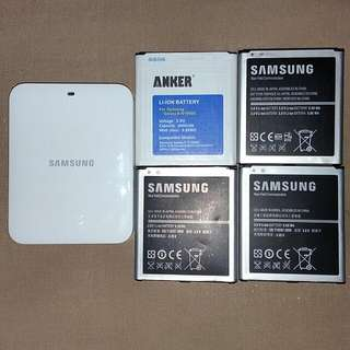 Samsung Galaxy S4 (4x Batteries&Cradle Charger)