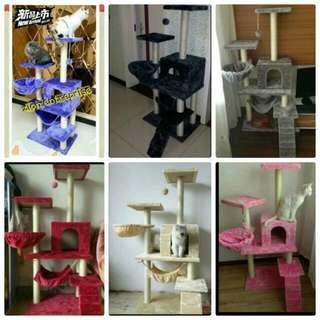 Extra Large Cat Climber / Pet House Toy / cat tree / cat condo / cat furniture / cat scratcher / cat playhouse / Cat Trees / Cat Scratching Post / Cat Scratching Tree / Cat House Large selection of cat furniture