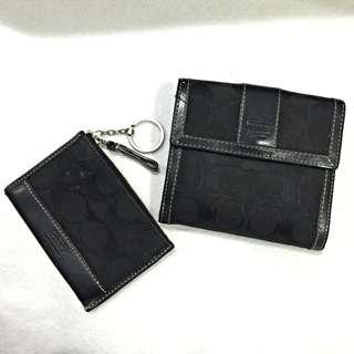 COACH 短夾+鑰匙圈零錢包