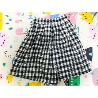 (免運)格子 褲裙 Queen Shop