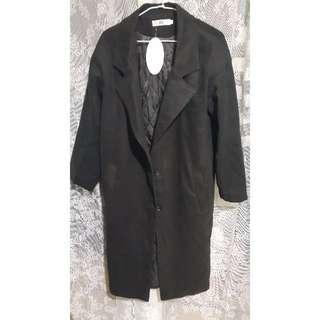 1200含郵 全新 超長版 oversize 羊毛 毛呢 韓版 大衣外套
