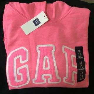 Gap 櫻花粉紅 白 Logo 連帽上衣 帽t 帽tee