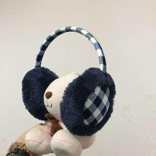 🚚 四四二手集 藍白格紋耳罩   #女裝88