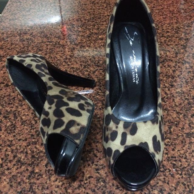 豹紋高跟鞋23.5