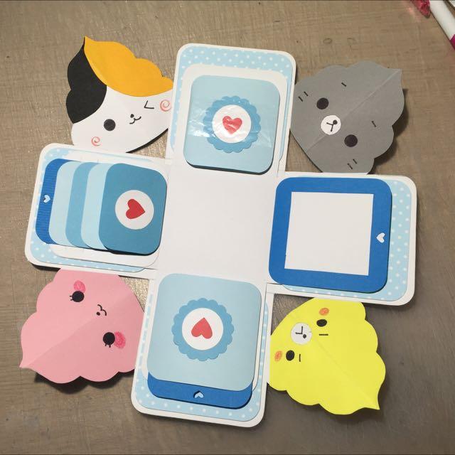 客製化盒子卡片(便便貓)