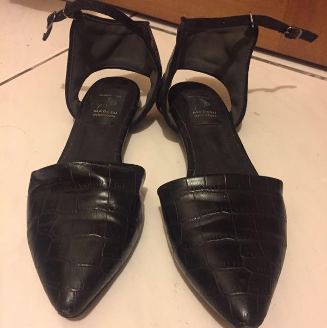 綁帶腳踝鞋 24.5