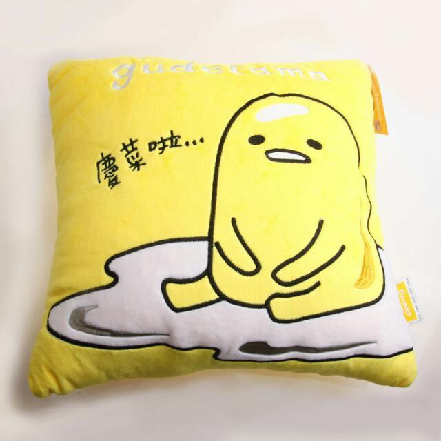 正版 蛋黃哥慵懶生活小方枕 靠枕