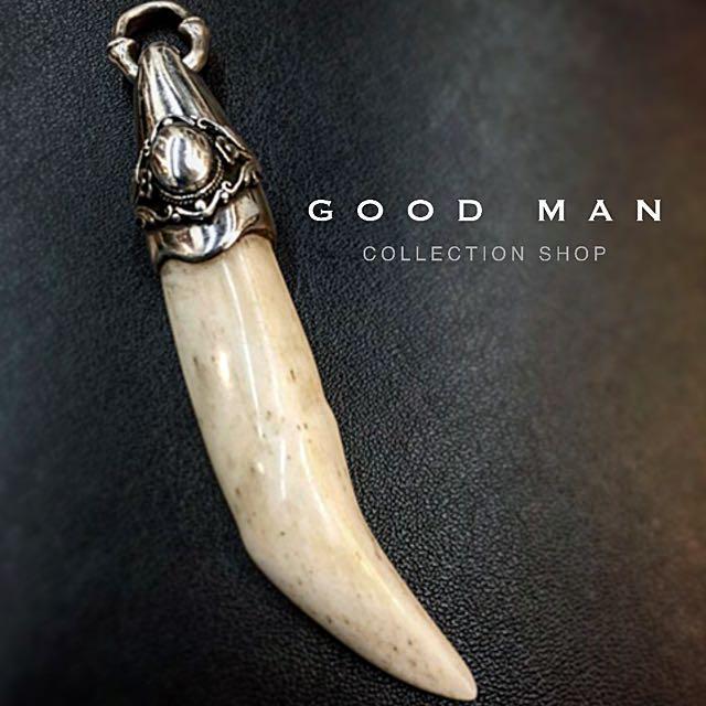 世界唯一 手工訂製 純銀包鑲獸牙
