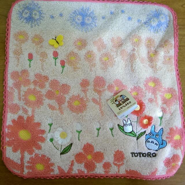 全新 正版龍貓小手帕 方巾 日本帶回