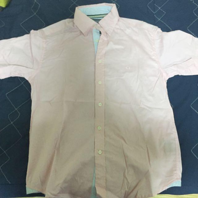 粉紅襯衫 短袖 New York