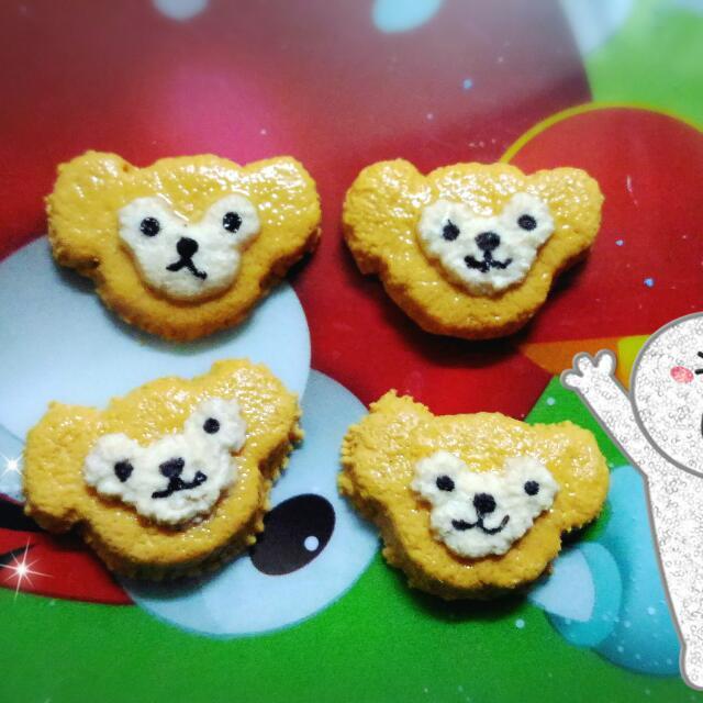 手工訂製 Duffy 熊熊甜點餅乾耳環
