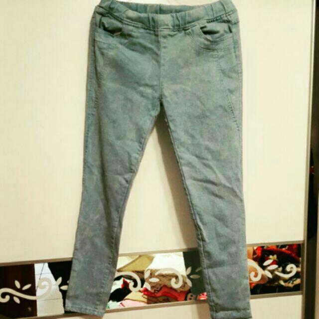 水藍色牛仔褲 L號
