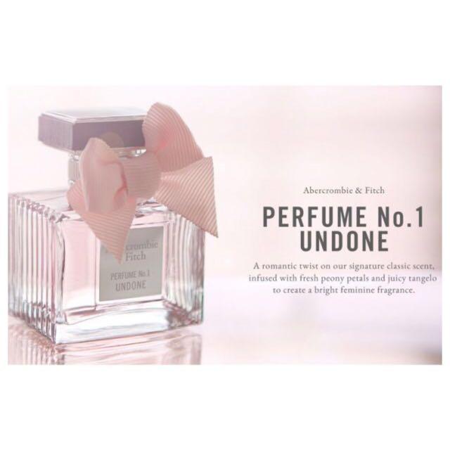 全新✨Abercrombie Fitch Perfume No.1 UNDONE 女性淡香水 情人節禮物