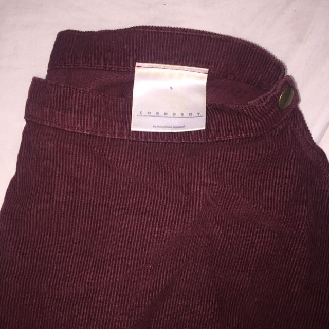 American Apparel Corduroy Circle Skirt