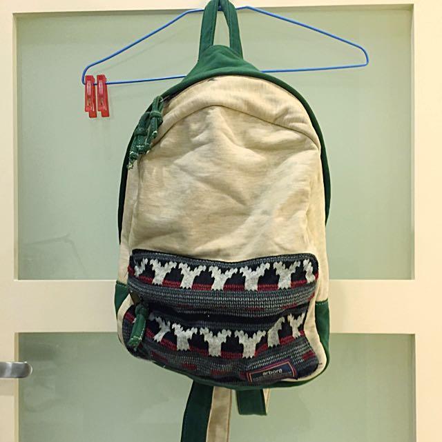 🎒日本arbore民族風圖騰後背包