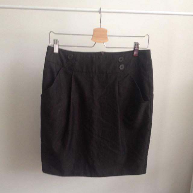 High Waisted Business Skirt