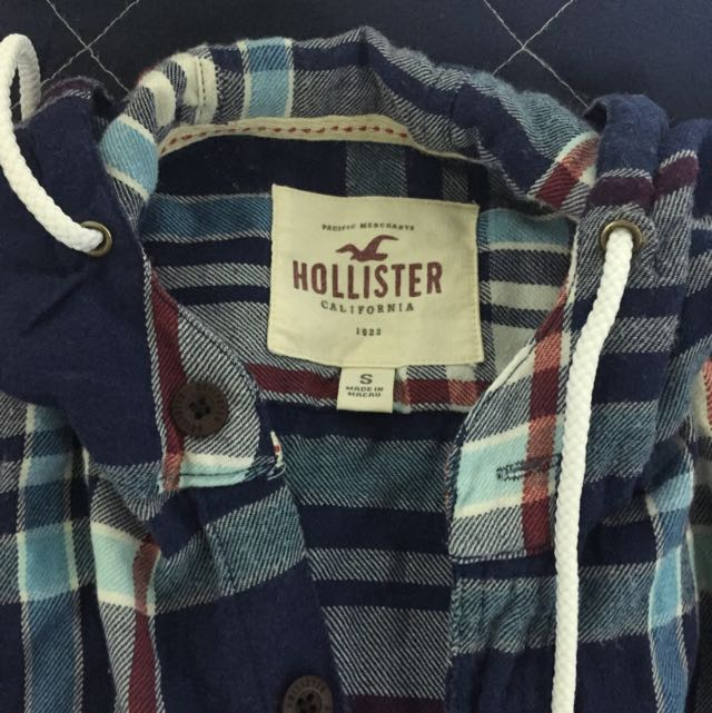Hollister 長襯衫 格子 二手 連帽襯衫