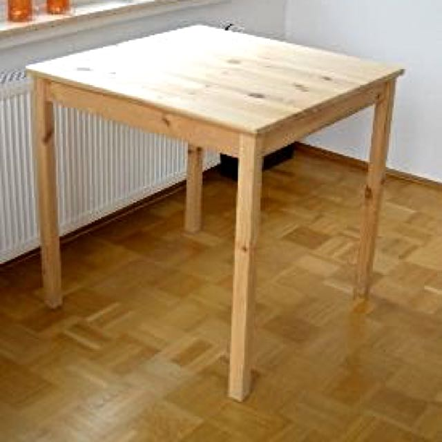 Ikea Wood Dining Table: IKEA DINING TABLE (SQUARE WOODEN BEECHWOOD 2-SEATER) PRE