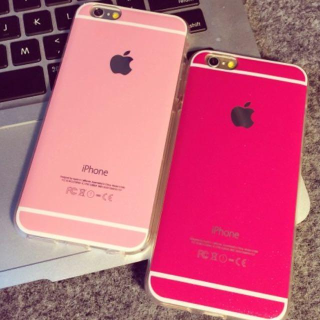 Iphone6/6s馬卡龍粉色手機殼(軟殼)